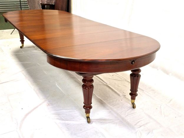 antique furniture warehouse large round extending antique table