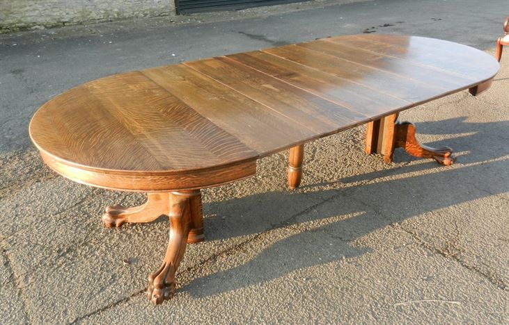 Antique furniture warehouse large round victorian centre for 10 people table