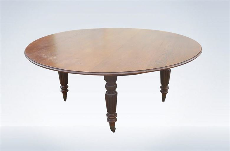 Victorian round table images for 10 people table