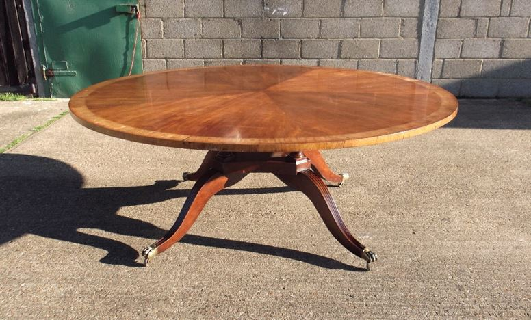 Antique furniture warehouse large round antique table 2 for 10 people table