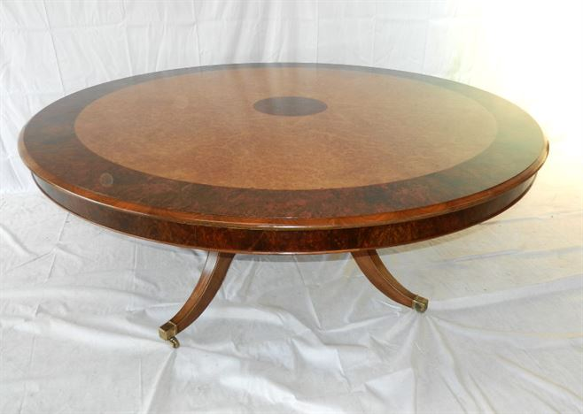 Antique furniture warehouse large round antique walnut Round dinner table for 10