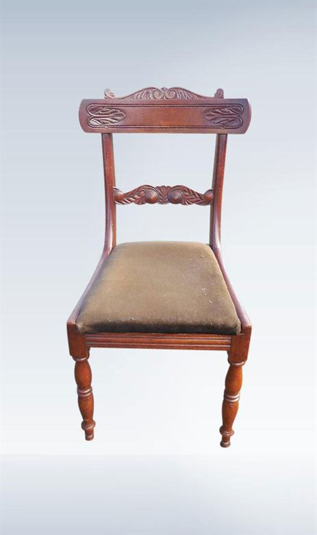 Large Set Genuine Regency Period Mahogany Bar Back Dining Chairs