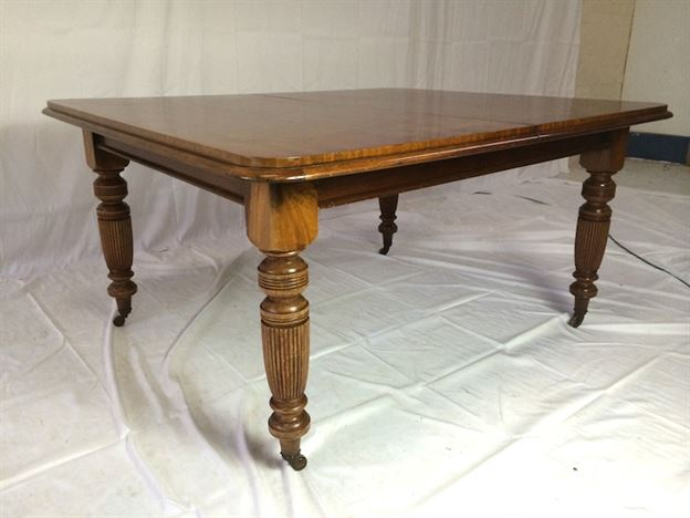 Table Late Victorian Mahogany Wind Out Dining Table To Seat 12