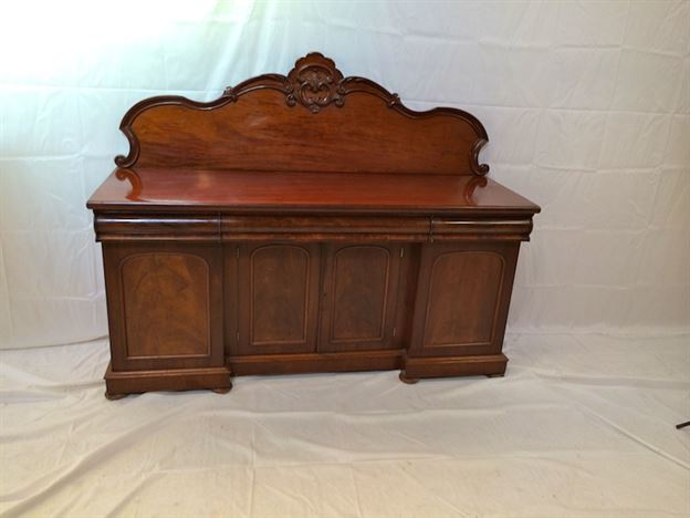 Large Victorian Sideboard - 6ft Mid Victorian Mahogany Quadruple Width Sideboard