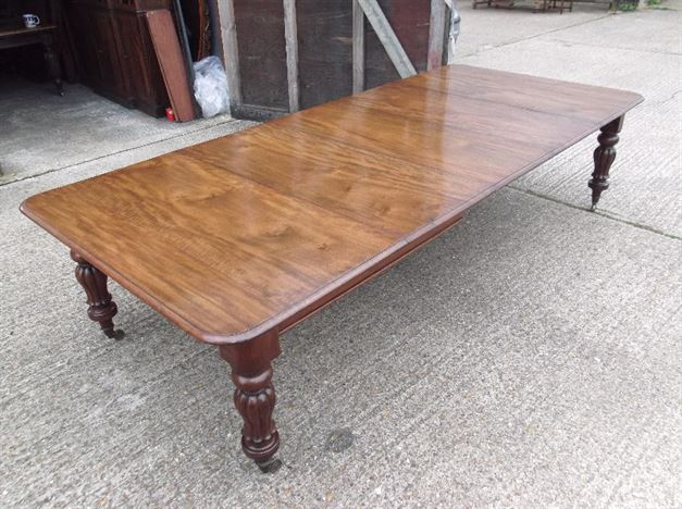 Large Antique Dining Table - 10ft 3 Metre Late 19th Century Arts Influenced Mahogany Extending Dining Table