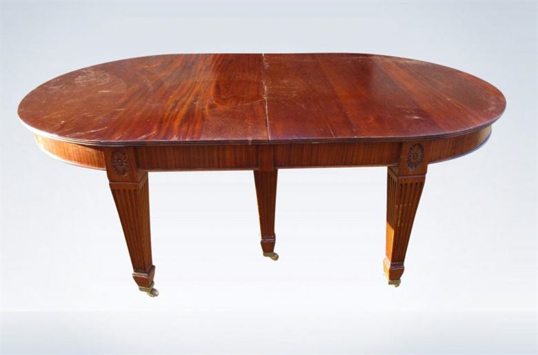 Large Antique Dining Table From Edwardian Period 5 Metre Length
