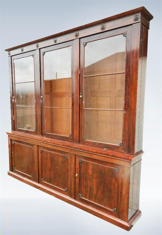 Large Antique Library Bookcase From Post Regency Georgian Period