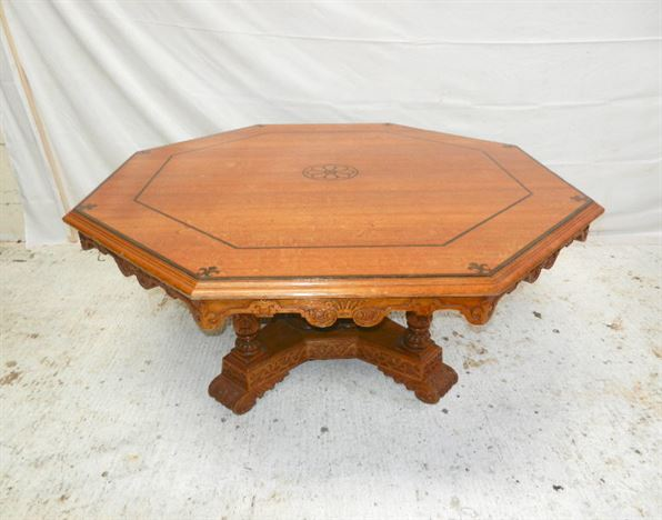 Antique furniture warehouse large antique oak 6ft round for 6 foot round dining table