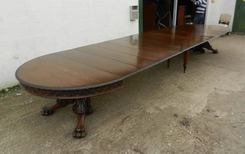 Large Antique Oak Dining Table Arts Crafts Victorian - ANTIQUE DINING TABLES UK Largest Stock Original Genuine English