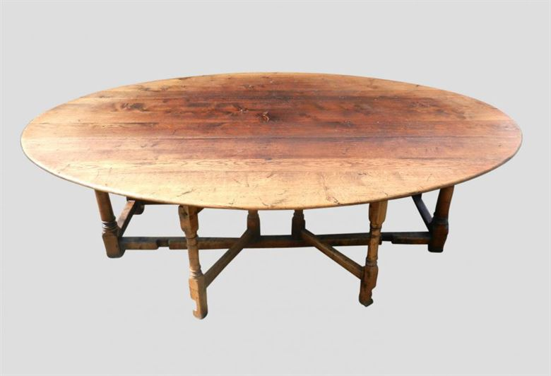 Antique furniture warehouse large antique oval table for 12 person farmhouse table