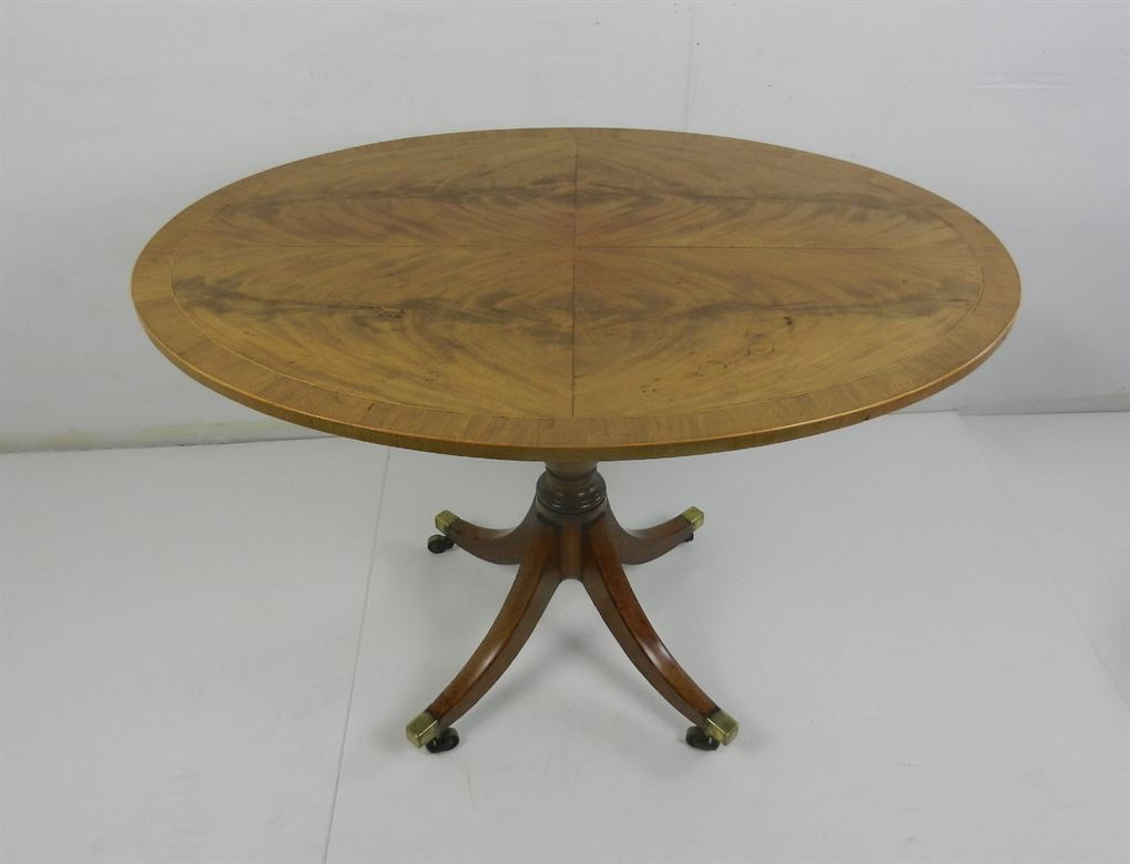 Late 18th Century Sheraton Period Mahogany Oval Formed Antique Occasional Tea Table