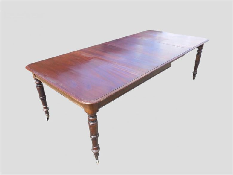 Long narrow regency antique dining table for Thin dining table