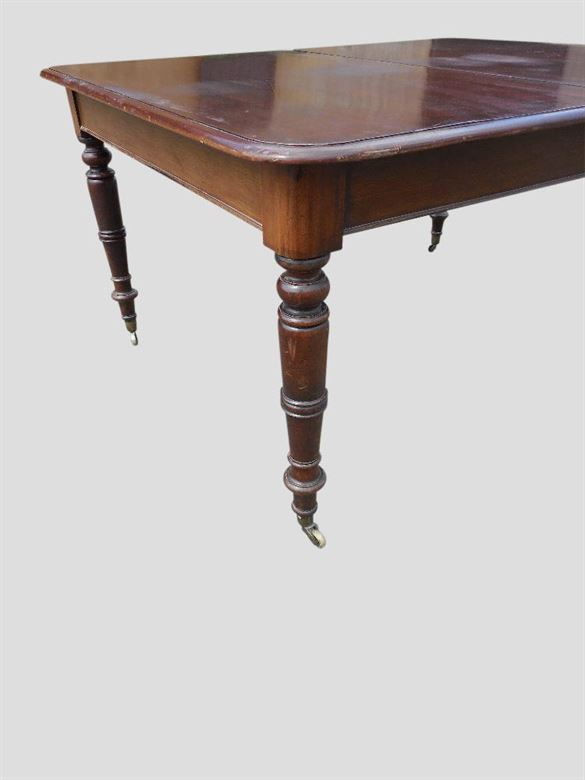 Antique furniture warehouse narrow antique dining table for Thin dining table