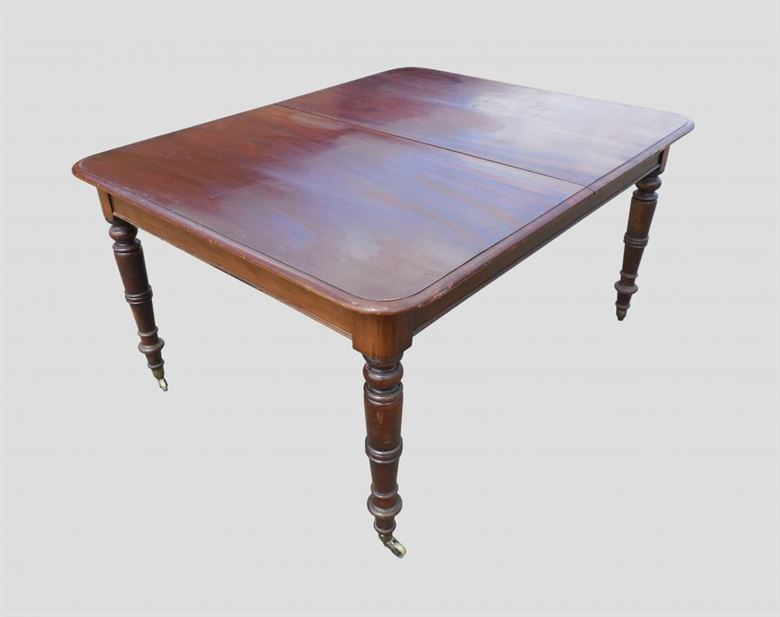 Long narrow regency antique dining table for Narrow dining table