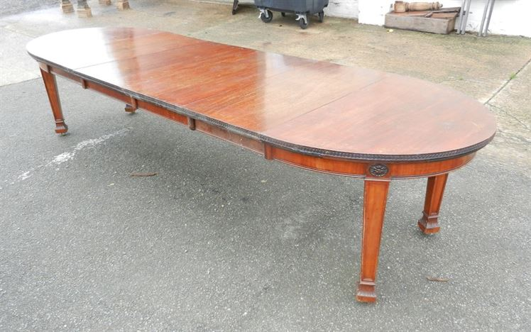 ANTIQUE FURNITURE WAREHOUSE Narrow Antique Extending Dining Table