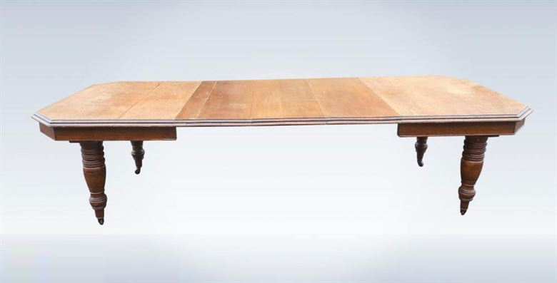 Oak Extending Dining Table - Late Victorian Arts & Crafts 3 Metre Antique