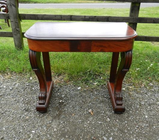Original Regency Console Table - Small Proportioned Regency Period Mahogany Hall Console Table