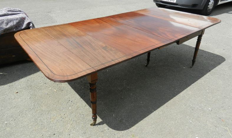 Antique furniture warehouse original regency mahogany for 10 seater dining table uk