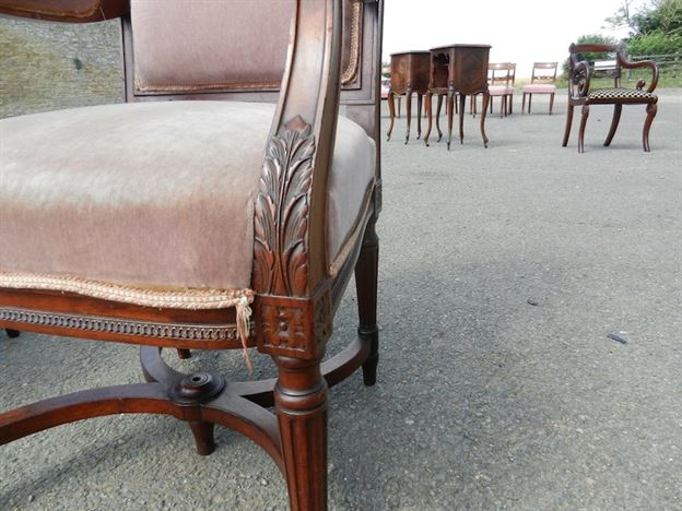 Pair Georgian Library Chairs - Early 19th Century Adams Styled Mahogany Library Chairs