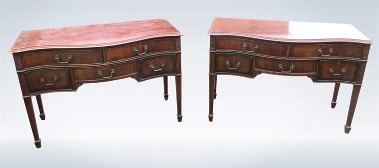Pair Georgian Mahogany Console Sideboards