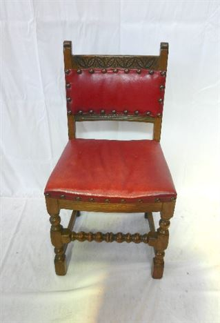 Set 10 Arts Crafts Oak Chairs - Set Of Ten Oak And Leather Upholstered  Dining Chairs - ANTIQUE FURNITURE WAREHOUSE - Set 10 Arts Crafts Oak Chairs - Set Of