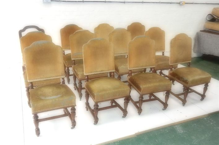 Set 12 Antique Victorian Dining Chairs