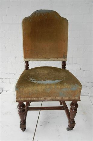 Set 12 Antique Victorian Dining Chairs - Set Twelve Fully Upholstered 19th Century Mahogany Framed Dining Chairs