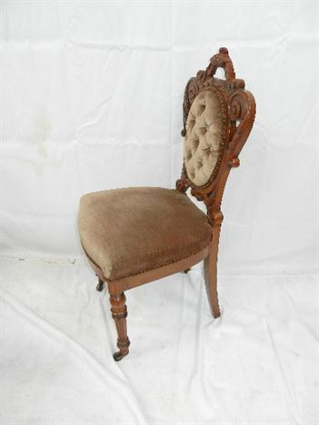 Set 16 Antique Walnut Chairs - Set Sixteen Victorian Walnut Framed Dining  Chairs - ANTIQUE FURNITURE WAREHOUSE - Set 16 Antique Walnut Chairs - Set