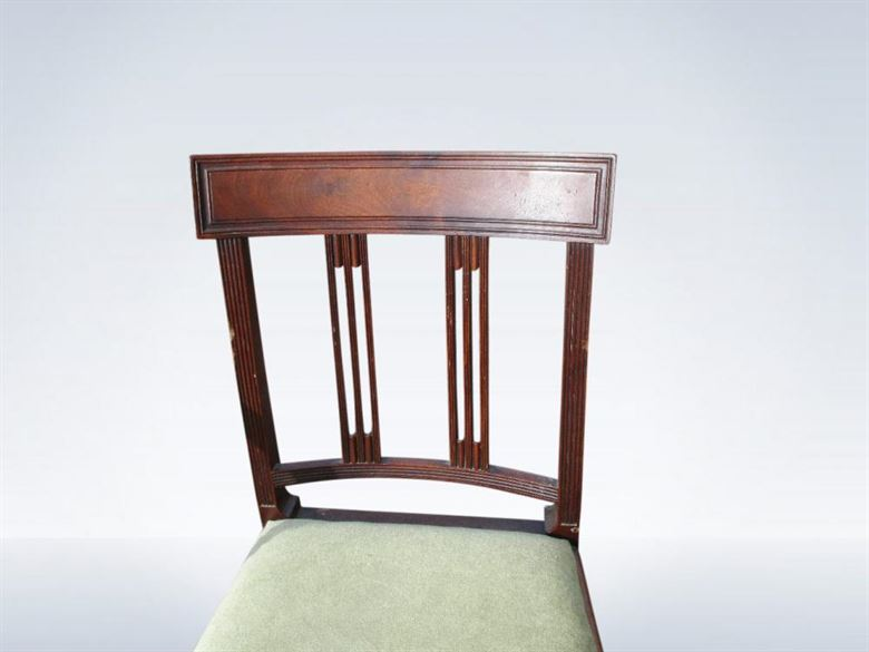 Set 8 Eight Antique Georgian Mahogany Dining Chairs