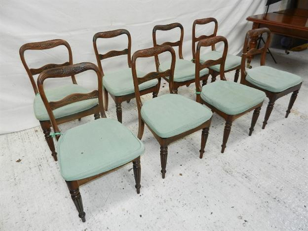 Set Eight Regency Chairs - Set 8 George IV Mahogany Dining Chairs Of Gillows Design