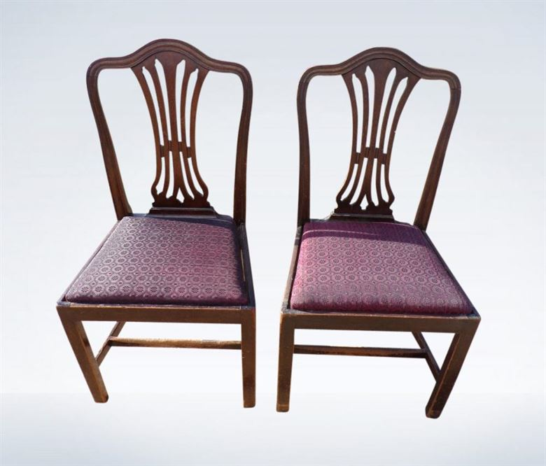 Set Sixteen 16 Antique Georgian Hepplewhite Dining Chairs - Antique Dining Chairs Sets UK - Mahogany Antique Dining Chairs Set