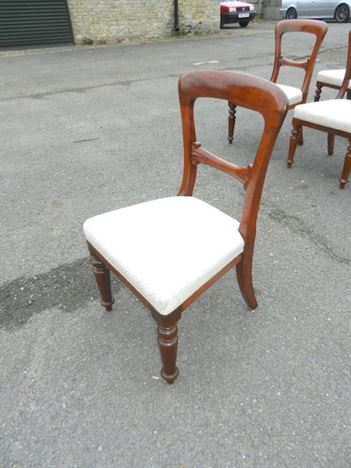 Set Twelve Victorian Dining Chairs - Matched Set Of 12 Early Victorian Balloon Back