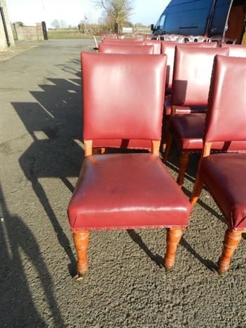 Set Twenty Four Late 19th Century Victorian Antique Oak Dining Chairs