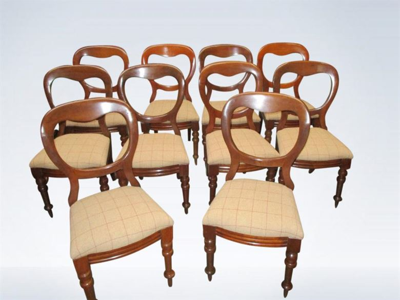 Sets Antique Victorian Balloon Back Dining Chairs