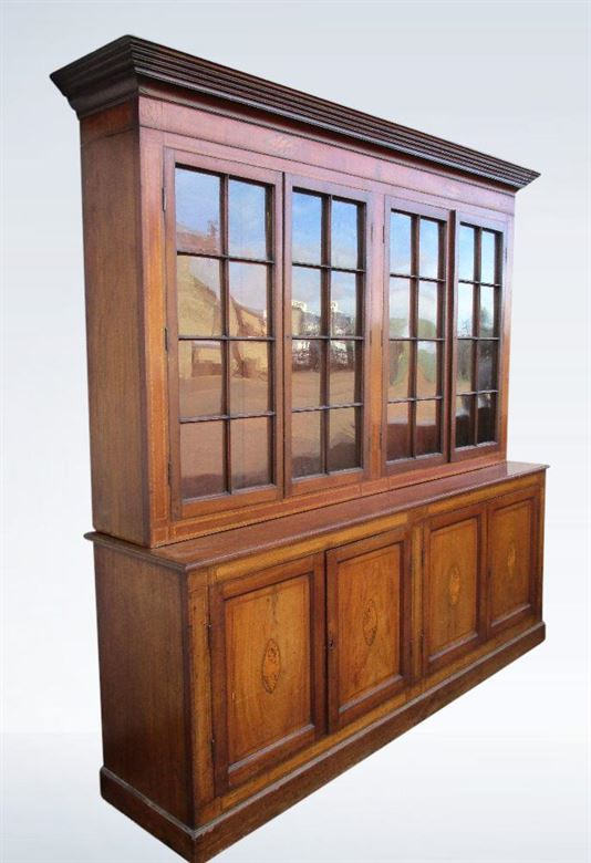 Shallow Depth 8ft (2.3 Metres) Regency Mahogany Library Bookcase