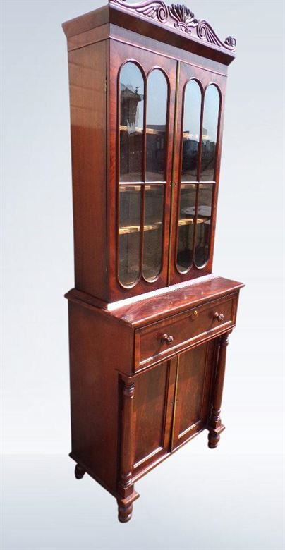 Small Antique Boocase - Small Proportioned Regency Period Mahogany Library Bookcase