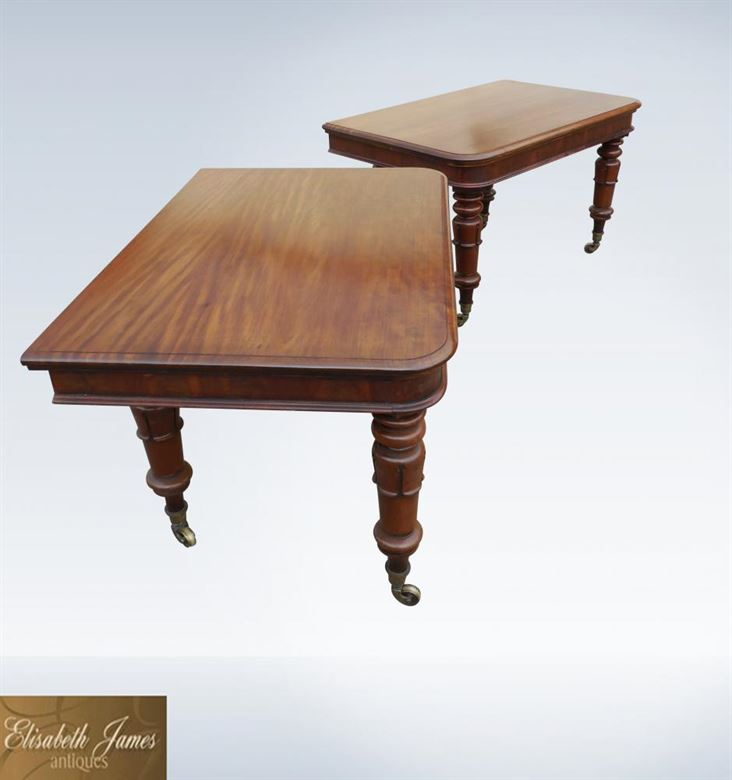 Stunning Original William IV Mahogany 14ft Extending Dining Table To Seat Up To 18 People