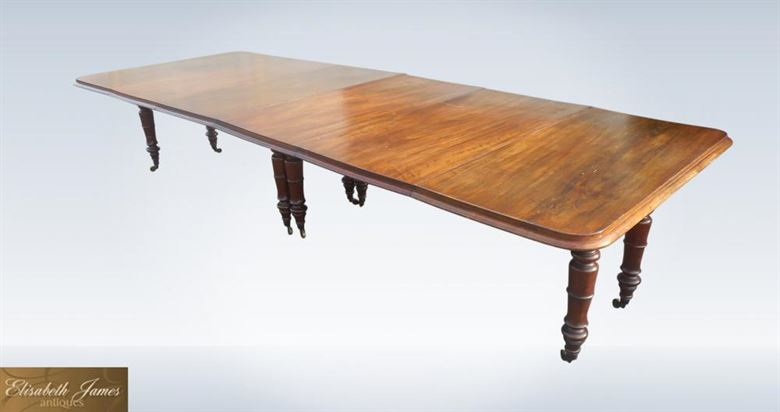 ANTIQUE FURNITURE WAREHOUSE Top Quality Large Original Antique Dining Table