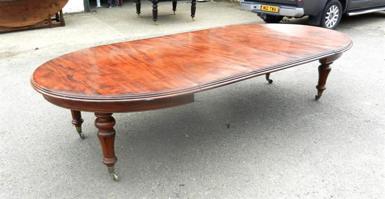 Top Quality Untouched Original Early Victorian Cuban Mahogany Antique Extending Dining Table