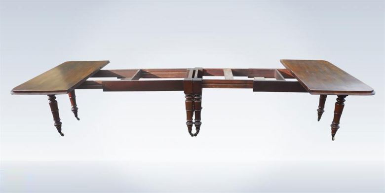 Very Rare Post Regency 12ft Mahogany Extending Dining Table By Famous Irish Makers