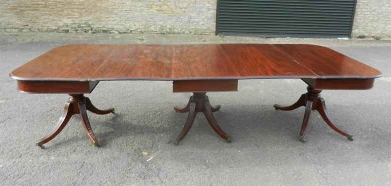 Very Versatile 10ft Long Original Late Georgian Period Regency Mahogany Antique Dining Table
