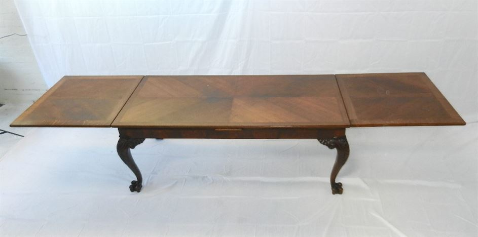 Victorian French Oak Extending Refectory Table - Late 19th Century 4 Metre Draw Leaf Refectory Table To Seat 14