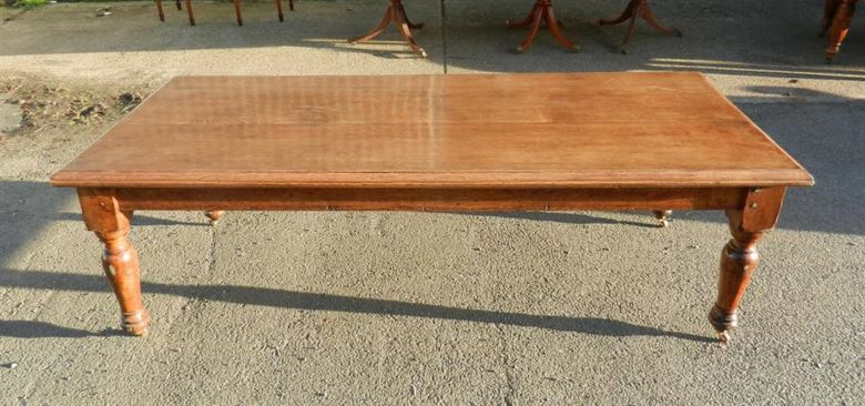 Victorian Oak Refectory Table - 8ft 19th Century Solid Oak Refectory Dining Table To Seat 10 People