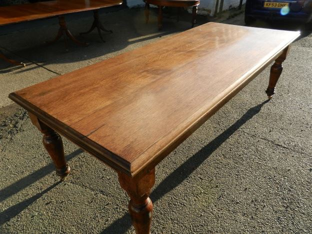 Antique furniture warehouse victorian oak refectory for 10 seater solid oak dining table