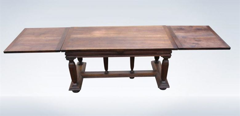 Antique 19th Century 10ft Walnut Extending Refectory Table