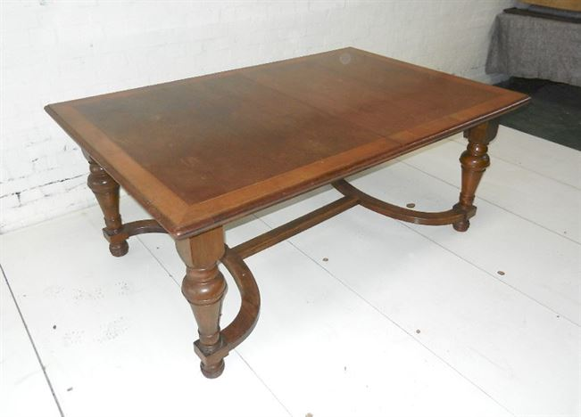 Antique Arts Crafts Dining Table - 9ft Edwardian Walnut Extending Dining Table