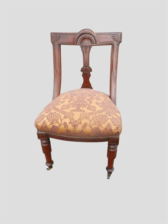 Antique Dining Chair Sets | Set 10 Victorian Mahogany Spoon Back Dining Chairs