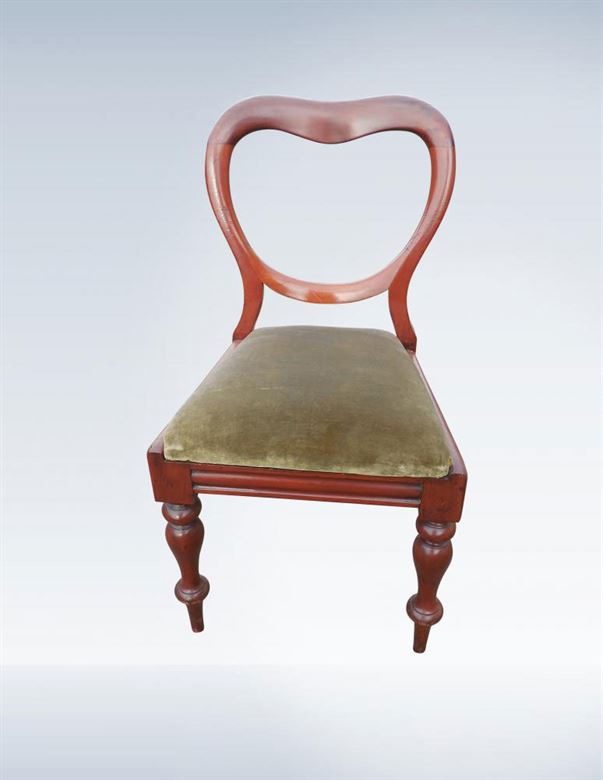 Antique Dining Chairs - Large Set Of Sixteen Early Victorian Mahogany Balloon Back Dining Chairs