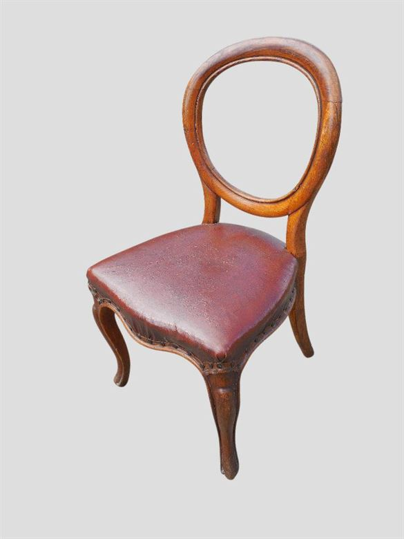 Antique Dining Chairs | Set 10 Antique Oak Balloon Back Dining Chairs
