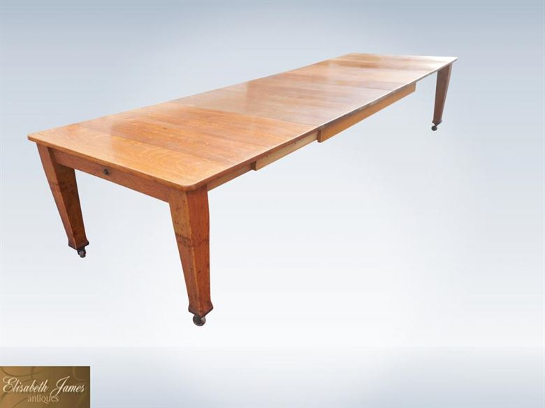 Antique furniture warehouse antique dining table 12ft for 12 dining table